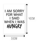 I AM SORRY FOR WHAT I SAID WHEN I WAS HUNGRY - rozmiar 2